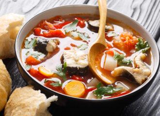 Sopa de anguila